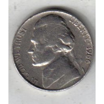 Estados Unidos Moneda De 5 Cents Año 1966 !!!