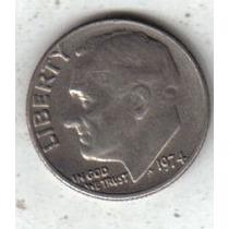 Estados Unidos Moneda 1 Dime Año 1974 !!!
