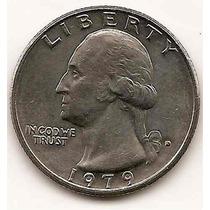 Moneda Estados Unidos De 25 Cent.cuarter Dolar Año1979d(##)