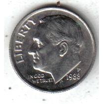 Estados Unidos Moneda 1 Dime Año 1988 P !!!!!
