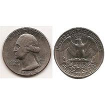 Moneda Estados Unidos De 25 Cent.cuarter Dolar Año 1984.p
