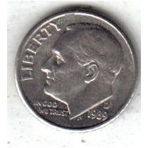 Estados Unidos Moneda 1 Dime Año 1989 D !!!!!