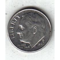 Estados Unidos Moneda De 1 Dime Año 1997d !!!!