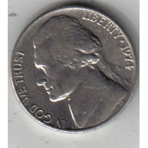 Estados Unidos Moneda De 5 Cents Año 1974 !!
