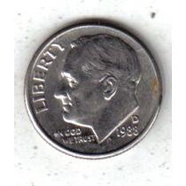 Estados Unidos Moneda 1 Dime Año 1988 D !!!!!