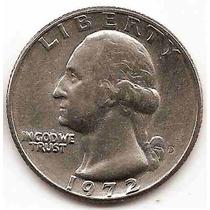 Moneda Estados Unidos De 25 Cent.cuarter Dolar Año1972d