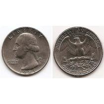 Moneda Estados Unidos De 25 Cent.cuarter Dolar Año 1981.p