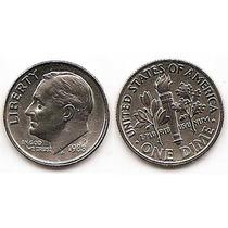 Moneda Estados Unidos De One 1 Dime 10 Centavos Año1988 P