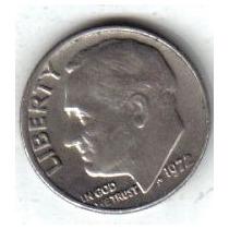 Estados Unidos Moneda 1 Dime Año 1972 !!!
