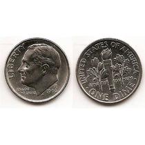 Moneda Estados Unidos De One 1 Dime 10 Centavos Año1996p(#)