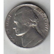 Estados Unidos Moneda De 5 Cents Año 1977 !!