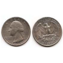Moneda Estados Unidos De 25 Cent.cuarter Dolar Año 1977