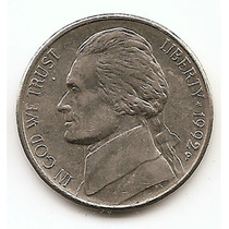 Moneda Estados Unidos De 5 Centavos Five Cents Año1992 P