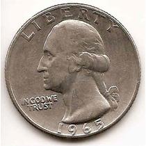 Moneda Estados Unidos 25 Cent.dolar Año1965 Buen Valor Catá.