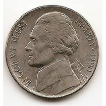 Moneda Estados Unidos De 5 Centavos Five Cents Año1990 D