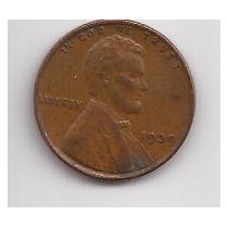 Estados Unidos Moneda De 1 Cent Año 1939 !!!