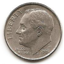 Moneda Estados Unidos De One 1 Dime 10 Centavos Año 1991 D