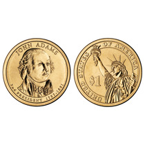 Moneda De 1 Dolar Estados Unidos Presidente John Adams