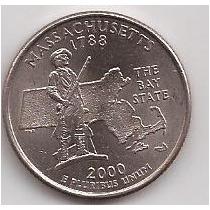 Estados Unidos 1/4 Dollar Conmemorativo Massachusetts 2000