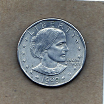 Estados Unidos Moneda De 1 Dolar 1999 Susan Antony