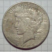 Estados Unidos Dólar Plata De La Paz 1922