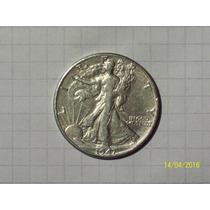Estados Unidos 1/2 Dólar Plata 1947 D Excelente