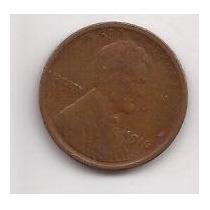 Estados Unidos 1 Cent Año 1916 Antigua Moneda De Cobre !!!