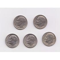 Estados Unidos 1 Dime Lote De 5 Monedas Distintas