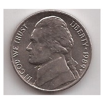 Eeuu Moneda De 5 Cents Año 1989 P !!