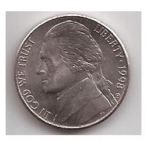 Eeuu Moneda De 5 Cents Año 1998 P !!