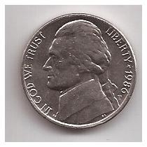 Eeuu Moneda De 5 Cents Año 1986 P !!