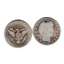 Moneda Estados Unidos 25 Centavos Plata Año 1899 Buena-
