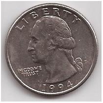 Estados Unidos 1/4 De Dolar Año 1994 D !!!