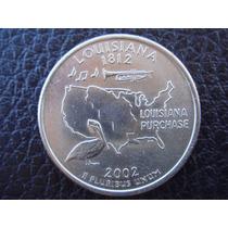 U. S. A. - Luisiana, Moneda D 25 Centavos (cuarto), Año 2002