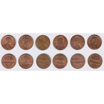 Estados Unidos, 6 Monedas Diferentes 1 Cent, 1980-2001d