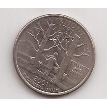 Eeuu 1/4 Dollar Moneda Conmemorativa Vermont 2001 !!