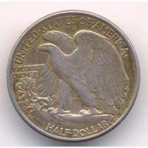 Moneda Medio Dolar De Plata 1946 Excelente Estado