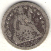 Estados Unidos Usa 1 Dime 1850 B+
