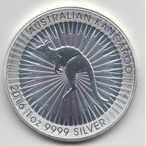 Numismatica1813 Australia Canguro Onza De Plata Pura 2016