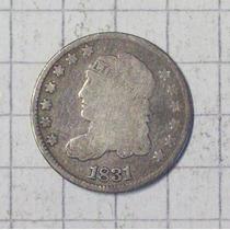 Estados Unidos 5 Ctvos Plata 1831 Linda Y Rara