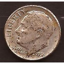 Moneda De Plata 1956 Estados Unidos 1 Dime Usada
