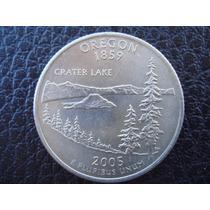 U. S. A. - Oregon, Moneda De 25 Centavos (cuarto) Año 2005