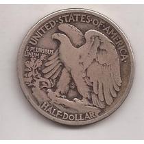 Eeuu 1/2 Dolar De Plata 900 Año 1918 12.5 Gramos