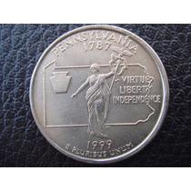 U. S. A. - Pensilvania, Moneda D 25 Centavos (cuarto) - 1999