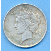 Usa Dolar Peace 1922 De Plata 900 Imperdible