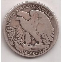 Eeuu 1/2 Dolar De Plata 900 Escaso Año 1920 D !!!