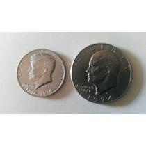 Serie 1 Dolar Y 1/2 Dolar Usa Aniveraario 1776-1976