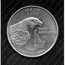 Estados Unidos Moneda De 1/4 Dolar 2007 Idaho