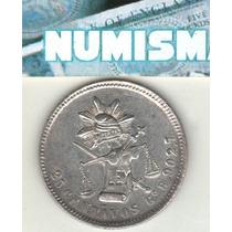 México Moneda 25 Centavos De Plata 1887 R Km 406.5 Xf