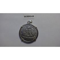 Robmar-f85-joya-plata Mexicana 1872-engarzada En Plata Pura